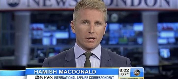 Foreign correspondent Hamish Macdonald